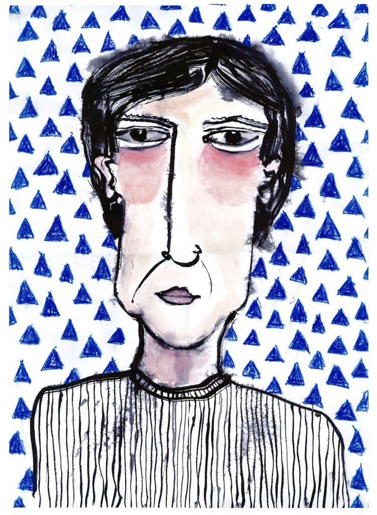 Karen Thompson, Karen T, KarenT, Illustrations, Painting, Abstract Portraits,