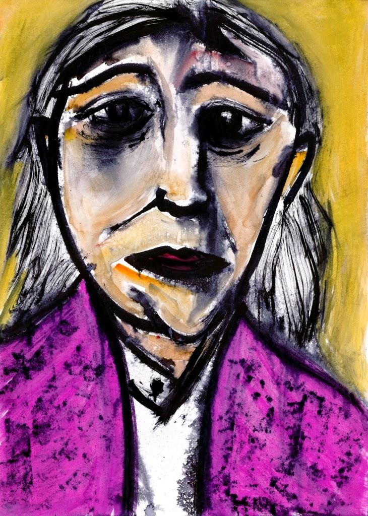 Karen Thompson, Karen T, KarenT, Drawing, Illustration, Portrait, Art, Watercolour Ink,