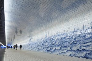 Amsterdam Tunnel Lined with 80,000 Delft Blue Tiles 7