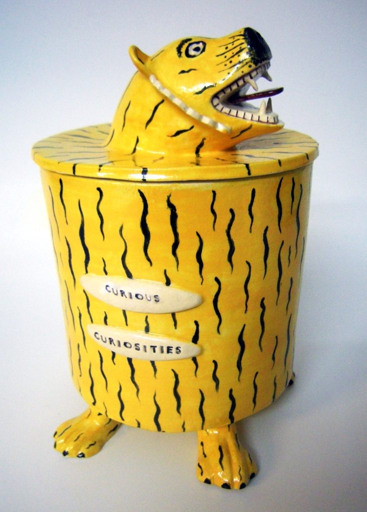 Karen Thompson, KarenT, Karen T, Ceramics, Ceramicist,, Art, Staffordshire Pottery, Tigers, Endangered Species, Jars,